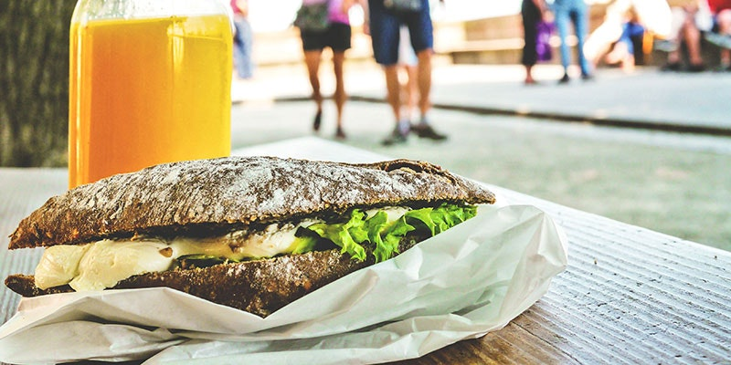 Ditch the sandwich, go running!